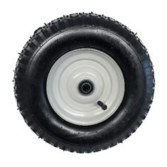 "4.80/400 x 8 TT Tire Stud 2-PLY 3"" Symmetrical White Wheel"