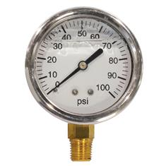 "FIMCO Pressure Gauge 0-100 PSI 2 1/2"" Liquid Filled"