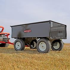 FIMCO 17 Cu Ft Trailer Cart Steel Bed Steerable 4 Wheel